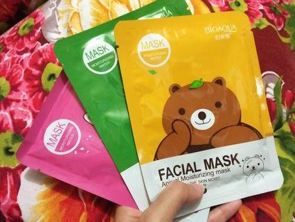 Mask sheet /masker line/ masker bioaqua animal
