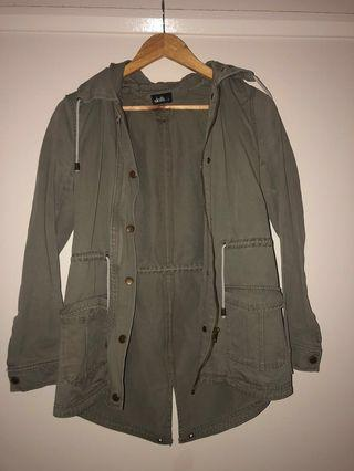 Khaki jacket size 8