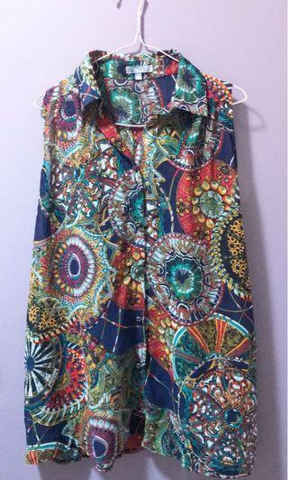 Printed top Sz 10