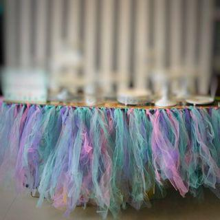 #EndgameYourExcess TUTU TABLE SKIRTING
