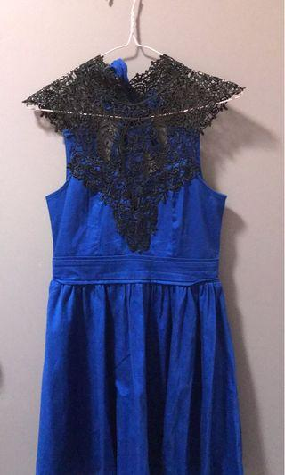 Royal blue dress Sz 8