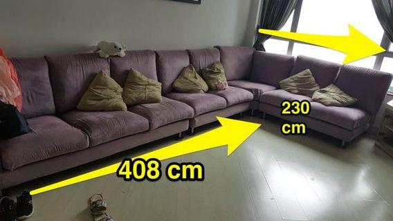 Full set velvet sofa