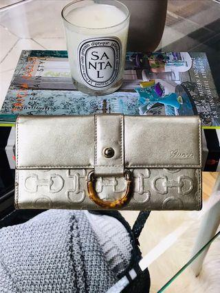 AUTHENTIC LEATHER GUCCI WALLET MADE IN ITALY