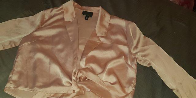 Rose tie up silk blouse #swapAU