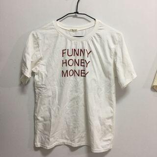 🚚 九成新*白色字母上衣
