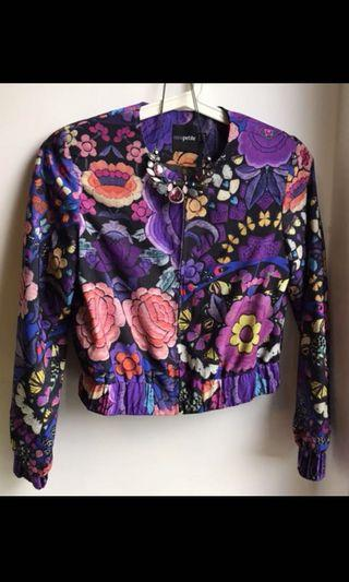 ASOS cropped floral bomber