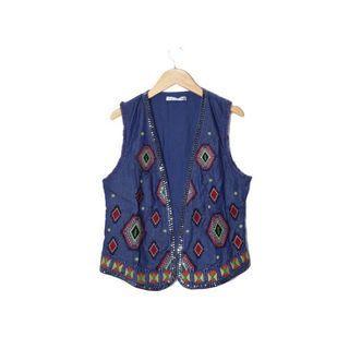 🚚 [AFA]古著刺繡背心