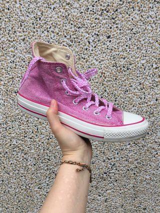 🚚 All star粉紅色帆布鞋