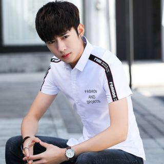 Men Fashion Summer Trend Youth Short Sleeve Student Style