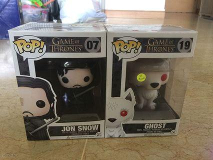 🚚 Pop! Game of Thrones Figurines