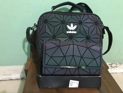 Authentic Issey Miyaki ADIDAS sling bag & wallet