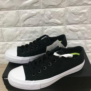 🚚 CONVERSE Chuck Taylor All Star II 低筒黑色帆布鞋