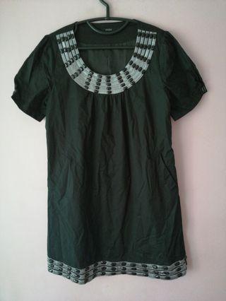 🚚 Black Beaded Tunic Short Sleeves Dress
