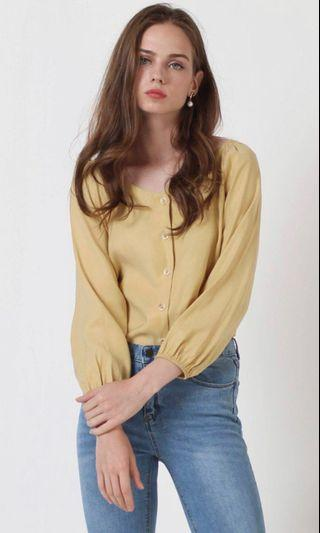 🚚 The Willow Label Arissa Top in Mustard
