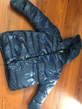 Mango Hooded Boys down padded winter jacket