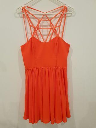Keepsake the Label: Burnt orange dress