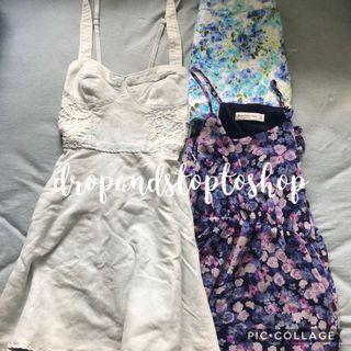 A&F Abercrombie and Fitch dress floral denim skirt 長身裙