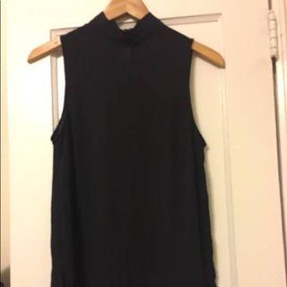 H&M black high neck top