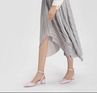 BN Charles and Keith Cylindrical Heel Sandals in Lilac