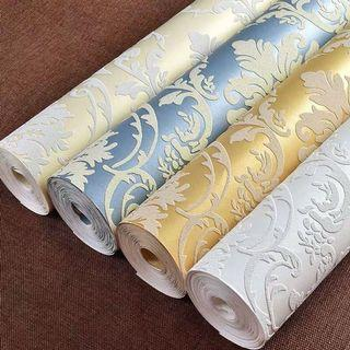 💗 Hari Raya Promo Embossed Damask Wallpaper