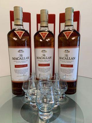 Macallan Classic Cut 2018 Limited Edition 3枝 (另送威士忌杯6隻) (只限一套)