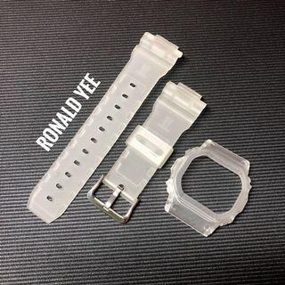 🚚 ❄️❄️❄️ICY Matt replacement bundle for Casio G-Shock DW-5600 and G-5600 , dw5600 replacement strap , g5600 band and bezel , custom bnb , CASIO