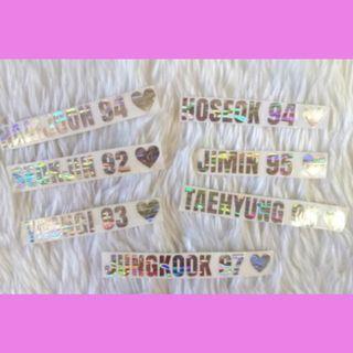 BTS Army Bomb Hologram Stickers