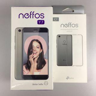 Neffos Y7 new set free transparent case