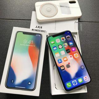 IPHONE X 256GB SILVER FULLSET