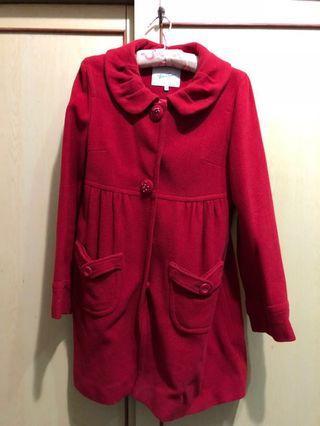 Bear two 紅色大衣外套#紅色單品