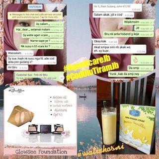 Vcare susu rendah lemak rm29/foundation vcare 3g rm15