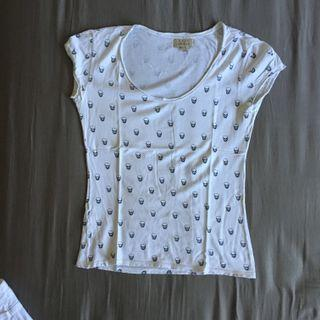 Zara Skull white top kaus