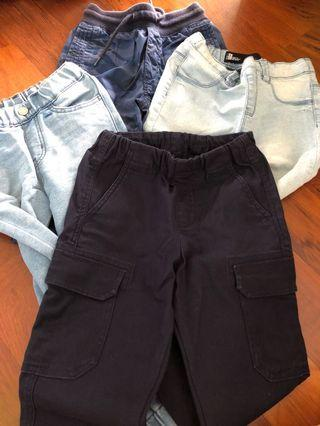 Assorted boys pants (GAP, Cotton On, UNIQLO)
