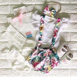 ⭐️Instock⭐️ Floral Baby Girl Set