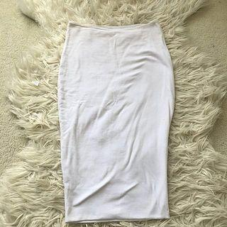 Kookai 'chic' white midi skirt