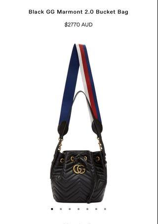 Gucci Marmont Bucket Bag