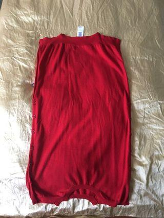 Maison margiela msgm dress red wool