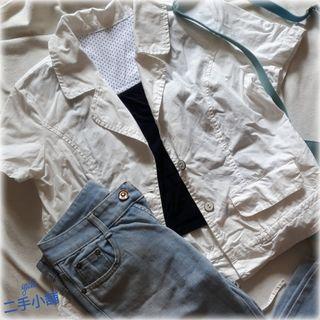 🚚 白短版外套