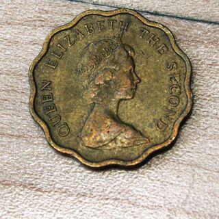 British Hong Kong floral 20 cent coin