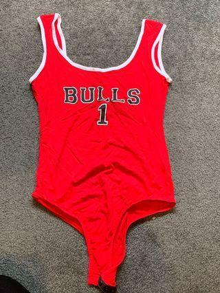 Bulls 1 Red Bodysuit size 6