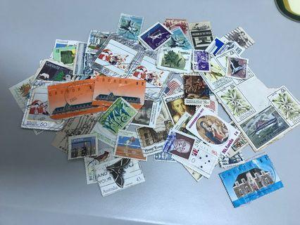 一堆舊郵票 包郵