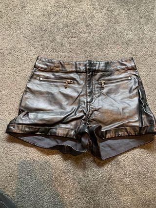 Real leather shorts size 6-8