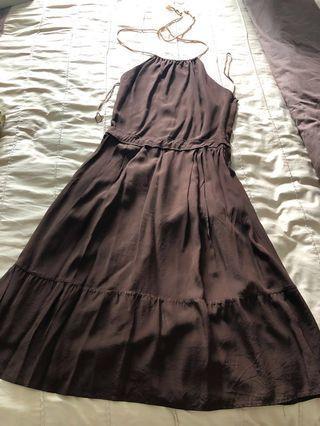 🚚 Brand new Massimo Dutti woman Silk dress in brown