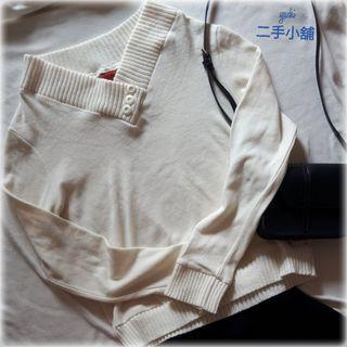 🚚 米白V領毛衣