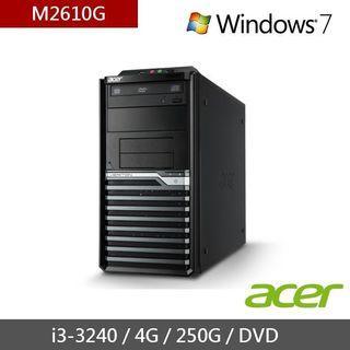 送烏龍茶全聯禮卷 Acer 宏碁 電腦主機 I3 3240 4G 250G WIN7  專業版 正版 企業福利機