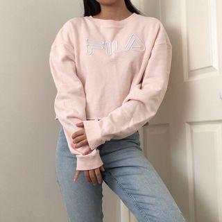 Baby pink Fila sweatshirt