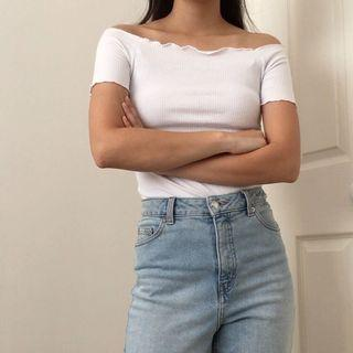 Glassons off the Shoulder ribbed Top
