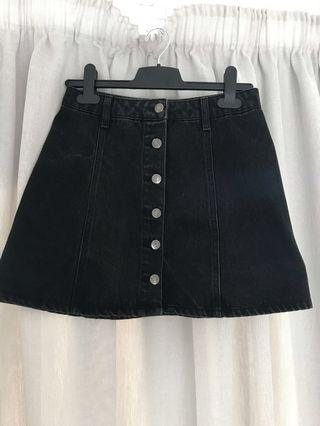Forever 21 denim skirt - black