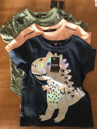 Three Dinosaur T-Shirts