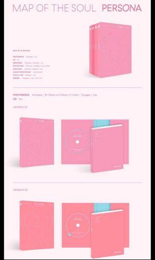 [INSTOCKS] BTS MAP OF THE SOUL:PERSONA SEALED ALBUMS